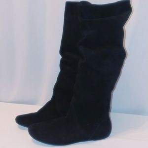 8.5 Leather Slouch boots gently used w/free gift